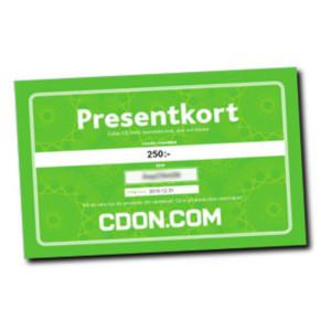 Julklappstips på presentkort varuhus CDON