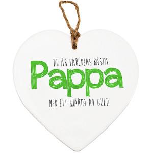 Hjärta i keramik julklapp till pappa