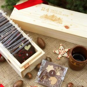 Chokladkalender i träask