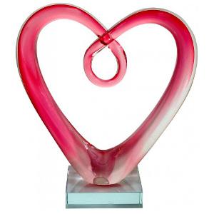 Hjärtskulptur i julklapp till flickvän eller pojkvän