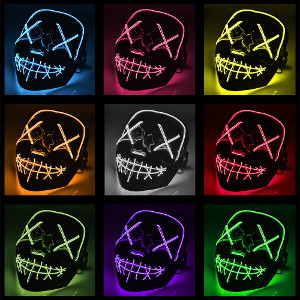 LED-mask el wire purge
