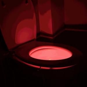 Toalettlampa i toaletten