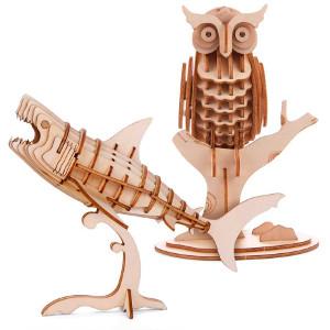 3D-pussel i trä