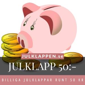 Julklappar & julklappstips 50 kr