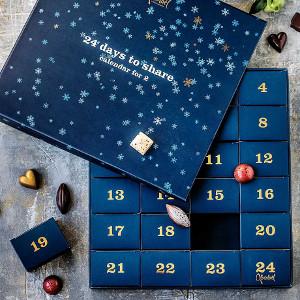 Lyxig chokladkalender för två personer