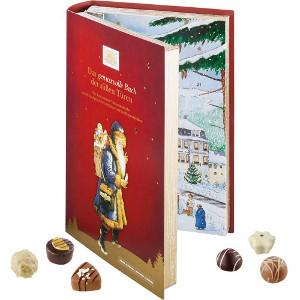 Chokladkalender bok - Adventskalender med mörk eller ljus choklad