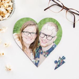 Hjärtpussel med foto - Romantiska julklappar