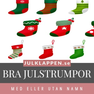 Julstrumpor - Hitta julstrumpa - Med eller utan namn - För vuxna & barn