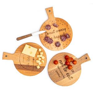 Rund ostbricka - Julklappstips skärbrädor
