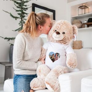 Stor nallebjörn - Personlig julklapp med tryck - Till henne och honom
