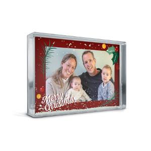Fotoram med snö - Personlig julklapp till hela familjen