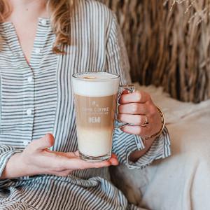 latte macchiato glas med gravyr - Julklappstips