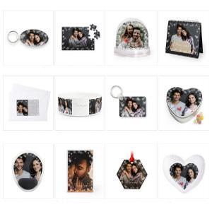 Fotoprodukter med hjärtan - Romantiska julklappar!