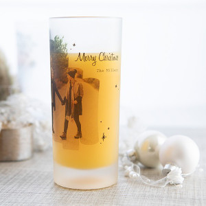 Frostade glas med foto - Personliga julklappar 2021 till henne & honom