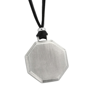 Hexagon halsband med gravyr